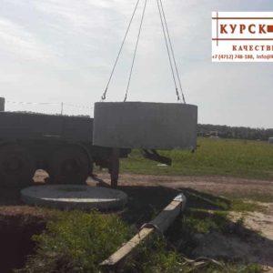 Железобетонные кольца колодца, доставка, монтаж в Курске (6)